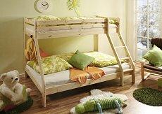 Patrová postel KATAMARAN masiv s rozšířeným spodním lůžkem