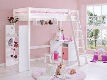 Patrová postel-horní spaní MATIAS jednolůžko bílá