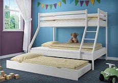 Patrová postel DENIS bílá