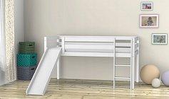 Dětská postel se skluzavkou ,,LILI EKO,,bílá
