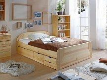Manželská postel s úložným prostorem ERNA natur box 180x200