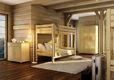 Patrová postel LK 136 90X200cm-DREWMAX