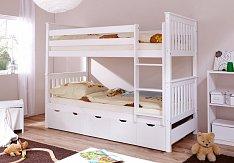 Patrová postel SAMMY bílá s úložným prostorem MARIA