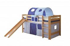 Dětská postel THEO se skluzavkou buk