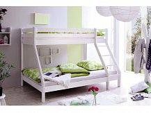 Patrová postel NOAH masiv 140x200 bílá