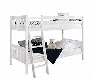 Patrová postel masiv buk ERNI II bílá