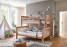 Patrová postel pro tři buk KICCK
