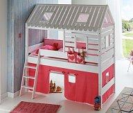 Dětská postel domeček bílá TOMAS