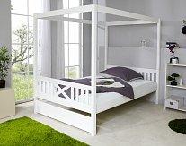 Dětská postel s nebesy bílá LINA