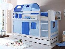 Patrová postel masiv  MARCEL bílá