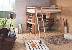 Zvýšená postel CAMPUS buk 140/200