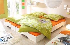 Rozkládací postel VARIO dvoulůžko bílá