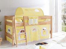Dětská zvýšená postel masiv KIM ONE buk