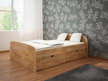 Manželská postel s úložným prostorem SILVA EXTRA  PLUS 180x200 masiv buk