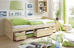 Dětská postel s úložným prostorem DRAVERS 90 x 200 cm masiv
