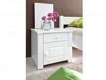 Noční stolek LEON masiv bílá