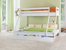 Patrová postel  MIKE  140x200 masiv bílá