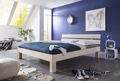 Manželská postel masiv buk MIKADO -WIT 180/200 bílá
