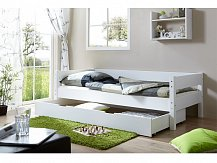 Dětská postel masiv buk NIK 90x200 bílá