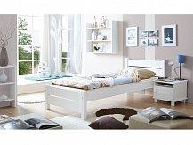 Dětská postel z masivu BORA bílá jednolůžko