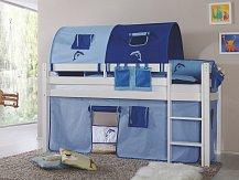 Dětská zvýšená postel z masivu LILI bílá