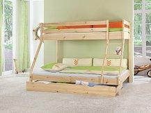 Patrová postel z masivu -MIKE 140/200  90/200
