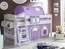 Zvýšená postel jednolůžko KENNY bílá