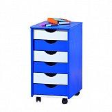 Kontejner k psacímu stolu modrá/bílá