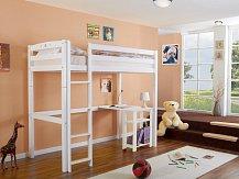 Dětská patrová postel LUPO 3 bílá