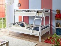 Patrová postel WAKE BUK 140 bílá