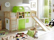 Dětská zvýšená postel s klouzačkou EKKI