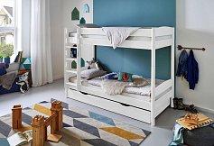 Patrová postel MICHELLE bílá s přistýlkou