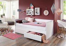 Rozkládací postel TIMMI bílá