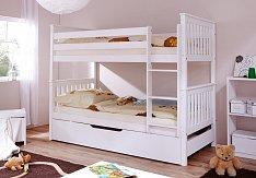 Patrová postel SAMMY bílá s přistýlkou MARIA