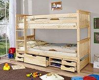 Dětská patrová postel SAMMY se zábranou a úložným prostorem MARLIES