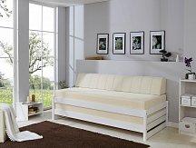 Rozkládací postel MINIMA bílá KOMPLET (2 x matrace+ 2x rošt)
