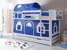 Patrová postel- palanda masiv LUKAS bílá