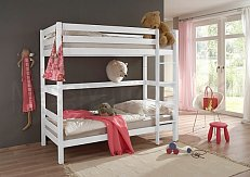 Patrová postel OLIVER- buk bílá