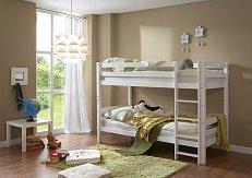 Patrová postel LUPO buk - bílá