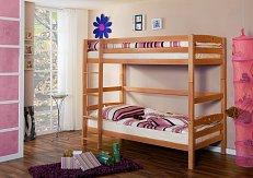 Patrová postel dvojlůžko LUPO 2 buk extra-zvýšená