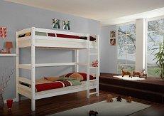 Patrová postel dvojlůžko LUPO 2 bílá extra-zvýšená