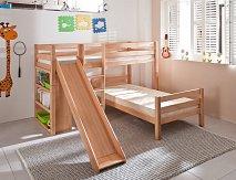 Patrová postel BENI L se skluzavkou buk