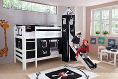 Patrová postel BENI SB se skluzavkou bílá