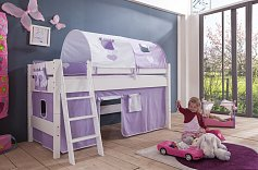 Dětská zvýšená postel KIM masiv buk bílá