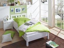 Dětská postel z masivu  LEON bílá jednolůžko