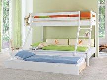 Palanda-patrová postel  MIKE PLUS EXTRA bílá