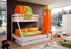 Patrová postel  s přistýlkou MIKE BUK -bílá