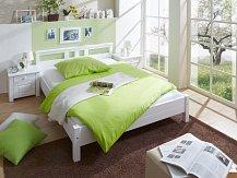 Manželská postel masiv bílá 180/200 LEON