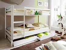 Patrová postel - palanda KEWIN masiv bílá
