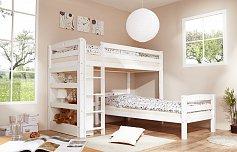 Patrová postel dvojlůžko LUPO -VARIANT bílá